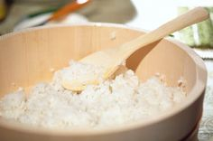 "The best sushi rice recipe: Sushi rice in a Hangiri ""This is the same sushi rice recipe that my now 80 year old Japanese mother used to make sushi for me when I was growing up..."""