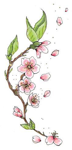sakura flower tattoo designs - Pesquisa Google