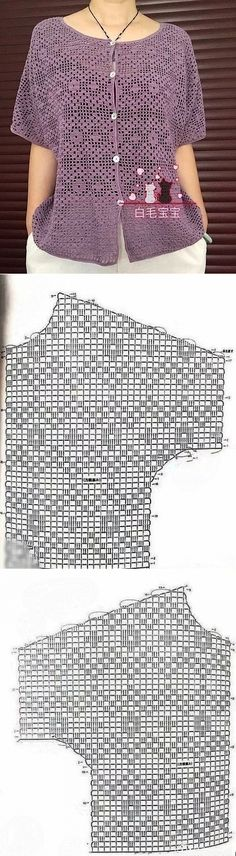 Diy Crochet Pillow, Crochet Bra, Crochet Shirt, Crochet Jacket, Filet Crochet, Crochet Clothes, Crochet Stitches, Crochet Bolero Pattern, Black Crochet Dress