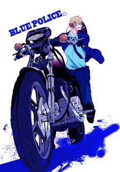 Blue Police by まりめ - Hetalia - America / Alfred F. Jones