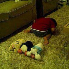 Little lovely Imam, prays with his toys :)
