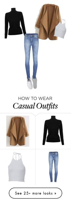 """""""Casual"""" by madelinewatz on Polyvore featuring WithChic, Victoria, Victoria Beckham, Vans and Cheap Monday"""