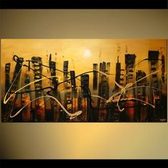 Modern cityscape paintings on canvas. The Twin Towers is a hand-painted artwork, created by the artist Osnat Tzadok. An online art gallery of modern paintings - artwork id Knife Painting, Online Art Gallery, Cool Art, Abstract Art, Hand Painted, Fine Art, Canvas, Modern, Artwork