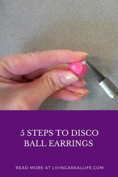 These super cute earrings are simple to make. Follow just 5 easy steps. Links to everything you need. Read more. Earring Tutorial, Disco Ball, Cute Earrings, Easy Projects, Super Easy, Tutorials, Jewellery, Simple, How To Make