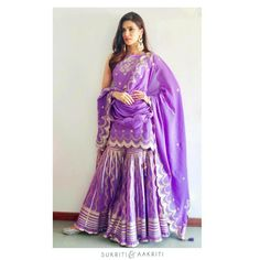 Best Labels To Buy Gorgeous Sharara Suits From! Indian Fashion Trends, Indian Fashion Dresses, Dress Indian Style, Indian Outfits, Fashion Outfits, Indian Wear, Hijab Fashion, Women's Fashion, Shadi Dresses