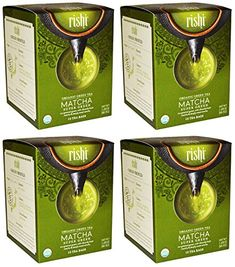 Rishi Tea - Organic Matcha Super Green Tea - 15 Bags Pack of 4 -- You can find more details by visiting the image link.