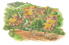 Manor- in medieval Europe, an agricultural estate that a lord ran and peasants worked