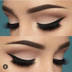 10 Hottest Eye Makeup Looks – Makeup Trends: Natural Smokey Eye with Thick Eyeliner Makeup Goals, Love Makeup, Beauty Makeup, Perfect Makeup, Gorgeous Makeup, Elegant Makeup, Makeup Inspo, Makeup Style, Makeup Kit