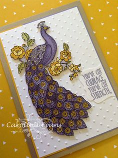 Stampin' Up! ... hand crafted card ... purple Perfect Peacock ... luv the way she used shades of purple ...