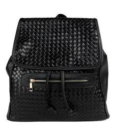 Black leather backpack / rucksack by Primark 2015 Look more photos here: www.brytyjka.pl/plecaki-skorzane-cat-16.html #leatherbackpack #travelbag