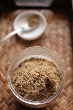 method to make masala tea powder or indian chai masala powder. homemade aromatic chai masala made with spices and lemon grass. Masala Chai, Masala Powder Recipe, Masala Recipe, Tea Recipes, Indian Food Recipes, Recipies, Cooking Recipes, Chai Tee, Indian Drinks