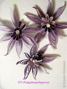 Quilled irises