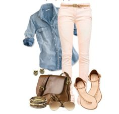 spring outfits 2014 polyvore | Breathtaking Polyvore Outfits – Spring 2014 switch the sandals and make the purse a messenger bag