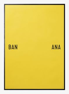 Banana split by Playtype | Poster from theposterclub.com