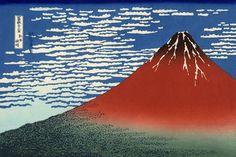Hokusai Katsusika.  凱風快晴(葛飾北斎の画)