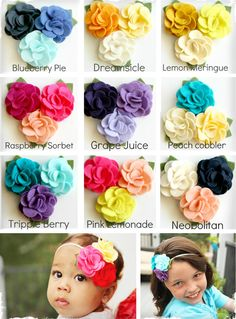 Perfect Summer Flower Bunch Headband/clip - good inspiration