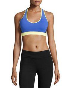 New Alo Yoga Chromatic Colorblock Sports Bra, Surf Blue/Black/Sunny Lime Glossy. >New Alo Yoga Bra. $$Regular Price $62, @@See New offer from top Seller. #Alo#Yoga#Chromatic#Colorblock#Sports#Bra,#Surf#Blue/Black/Sunny#Lime#Glossy-Bra