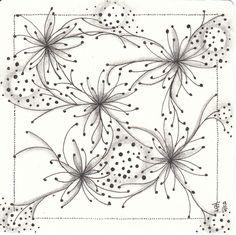 Zentangle made by Francine Derks CZT 17.