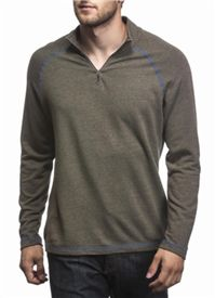 Agave - Chilliwack Mock Twist Terry T-shirt: The blue flat stitch trim against the olive body makes this anything but ordinary.