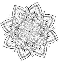 Mandala Flower found on the web! enjoy!