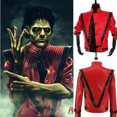 thriller inspired faux leather jacket