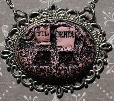 Psychobilly Rockabilly Pendant Necklace  Creepy by VonErickson, $18.00