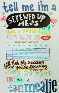 one direction lyrics Tell Me A Lie... SO COOL!