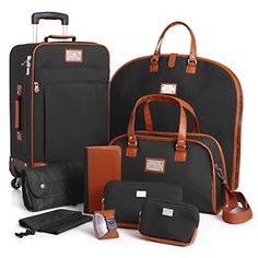 Just bought these in the blue and Love it!!!Joy Mangano St. Barts Canvas Chic Collection 10-piece Luggage Set at HSN.com.