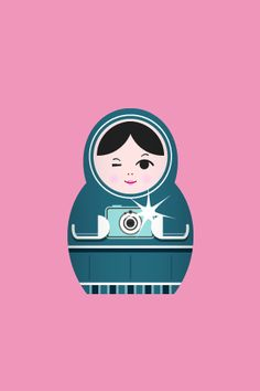 Matryoshka Russian Doll Print oh my gosh how cute! Matryoshka Doll, Russian Art, Fabric Dolls, Doll Face, Iphone Wallpaper, Iphone Backgrounds, Illustration Art, Prints, Cheese