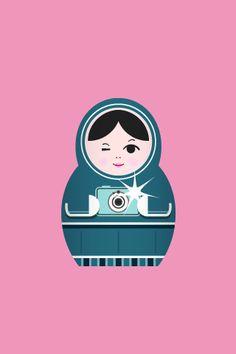 Matryoshka Russian Doll Print oh my gosh how cute! Matryoshka Doll, Wooden Hand, Russian Art, Fabric Dolls, Doll Face, Iphone Wallpaper, Iphone Backgrounds, Illustration Art, Prints