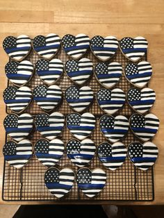 Thin Blue Line Cookies.