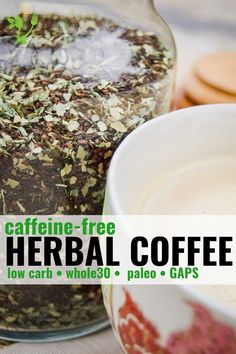 This Herbal Coffee is a decadent and delicious coffee substitute that has many added health benefits. It's completely caffeine-free and can be enjoyed any time of day. || Prepare and Nourish