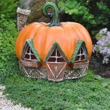 Miniature Garden Fairy, Gnome, Hobbit Pumpkin House, Indoor/ Outdoor Fiddlehead
