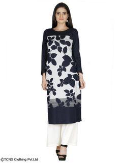 W for Woman | Winter Wear | Grey Full Sleeve Kurta | 16NO16400-65975