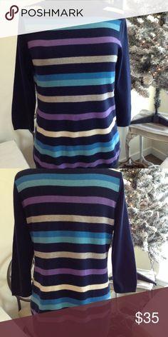 Talbots-Petite sweater Talbots-Petite stripe sweater - Like New Talbots Sweaters Crew & Scoop Necks