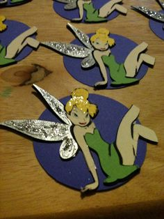 Tinker Bell and Friends Cupcake Toppers