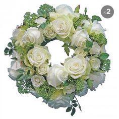 Set of 2 Artificial Bridal Wreaths