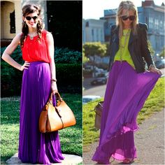 High Slit Purple Skirt Outfit - Appropriate for any workplace ...