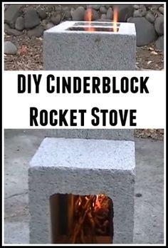 DIY Cinderblock Rocket Stove