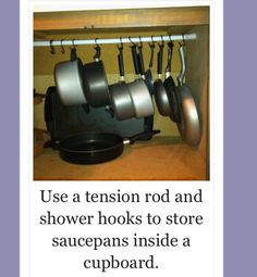 How to store saucepans