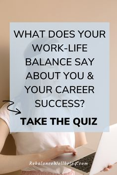 If you want to balance work and home, take the QUIZ What Does Your Work-Life Balance Say About You and Your Career Success? Get a FREE customized guide with 10 must-have work-life balance tips every working parent needs to rebalance work + life. #RebalanceWellbeing #worklifebalance #worklife Working Mom Quotes, Working Mom Tips, Working Moms, Make Money From Home, Way To Make Money, Work Life Balance Tips, Legitimate Work From Home, Do You Work, Career Success