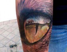 Realistic Tattoo Lion Eye