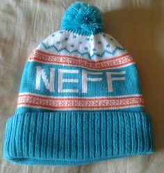 fd0d6cd1cd2 NEFF Flake Beanie Knit Cap Hat Teal Green Orange Snowboarding Skating NEW   Neff  Beanie - SOLD!