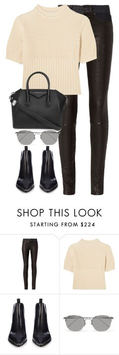 """Untitled #2796"" by elenaday ❤ liked on Polyvore featuring rag & bone, Totême, Acne Studios, Linda Farrow and Givenchy"