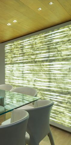 """American designer Marty Lowe sailed through the interior design of SL86 Yacht, merging Carrara #marble and light into the space, where a backlit #featurewall became the focal point.  Our """"rigel"""" #walltexture from the """"Le Pietre Luminose"""" collection in one of the high-range proposals of Italian shipyard Sanlorenzo Yacht."""