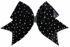"Rhinestone Random Pattern Cheer Bows are super sparkly with ss16 AAA grade rhinestones randomly placed on the 3"" cheer bow base. This bow is a pretty style any cheerleader would love to wear."