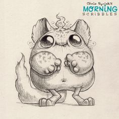 Fuzzy Friday! Art by Chris Ryniak #morningscribbles