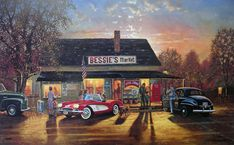 Painting Classic Cars and Motorcycles | Brians Gallery Presents David Barnhouse - Limited Edition Prints