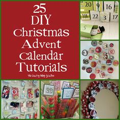 25 DIY Christmas Advent Calendar Tutorials www.thecraftyblogstalker.com