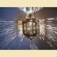 Moroccan Style Jeweled Hanging Lantern